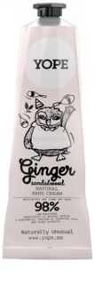 Yope Ginger & Sandalwood Natural Hand Cream Nutrition And Hydration