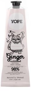Yope Ginger & Sandalwood natürliche Creme für die Hände zum nähren und Feuchtigkeit spenden
