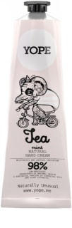 Yope Tea & Mint Natural Hand Cream Nutrition And Hydration