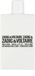Zadig & Voltaire This Is Her! Körperlotion für Damen 200 ml