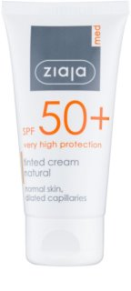 Ziaja Med Protecting UVA + UVB tónovací krém na obličej SPF 50+