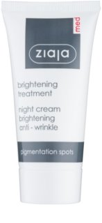 Ziaja Med Whitening Care crème de nuit anti-rides pour peaux hyperpigmentées