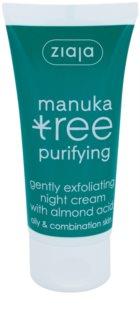 Ziaja Manuka Tree Purifying eksfoliacijska nočna krema proti aknam
