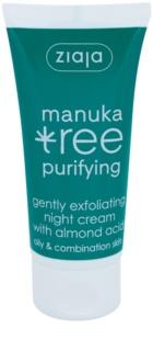 Ziaja Manuka Tree Purifying exfoliačný nočný krém proti akné