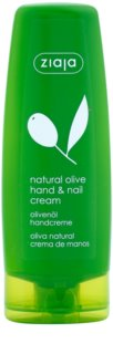 Ziaja Natural Olive Cream On Hands And Nails