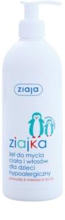 Ziaja Ziajka gel za prhanje za telo in lase 2v1