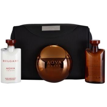 Bvlgari AQVA Amara lote de regalo IV.  eau de toilette 100 ml + gel de ducha 75 ml + bálsamo after shave 75 ml + bolsa para cosméticos