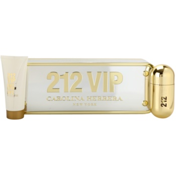 Carolina Herrera 212 VIP lote de regalo II.  eau de parfum 50 ml + leche corporal 100 ml