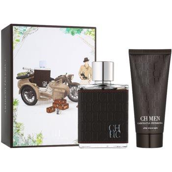 Carolina Herrera CH CH Men lote de regalo I.  eau de toilette 100 ml + bálsamo after shave 100 ml