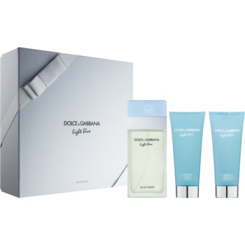 Dolce & Gabbana Light Blue lote de regalo VI.  eau de toilette 100 ml + gel de ducha 100 ml + crema corporal 100 ml