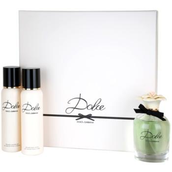 Dolce & Gabbana Dolce lote de regalo IV.  eau de parfum 75 ml + leche corporal 100 ml + gel de ducha 100 ml