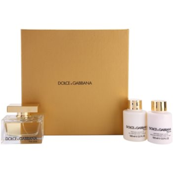 Dolce & Gabbana The One lote de regalo I.  eau de parfum 75 ml + leche corporal 100 ml + gel de ducha 100 ml