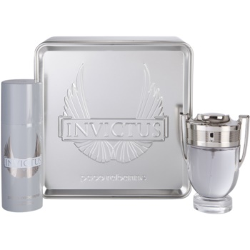 Paco Rabanne Invictus lote de regalo III  eau de toilette 100 ml + desodorante en spray 150 ml