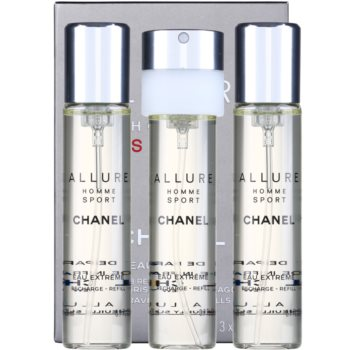 Chanel Allure Homme Sport Eau Extreme EDP for men 3 x 0.7 oz Refill