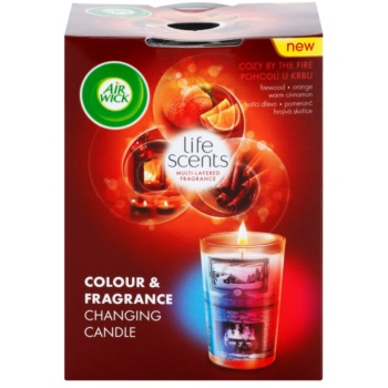 Air Wick Life Scents Color & Fragrance Changing bougie parfumée 140 g  (Cozy by the Fire)