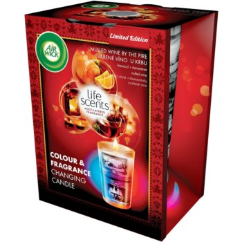 Air Wick Life Scents Color & Fragrance Changing bougie parfumée 140 g  (Mulled wine by the fire)
