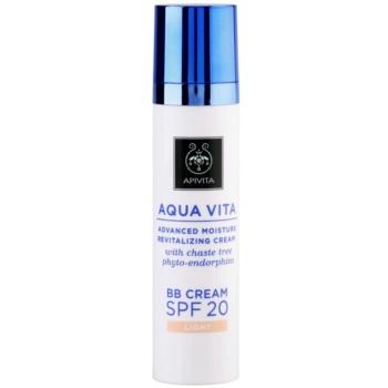 Apivita Aqua Vita BB crème hydratante et revitalisante SPF 20 teinte Light (with Chaste Tree Phyto-Endorphins, All Skin Types) 40 ml