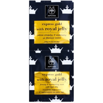 Apivita Express Gold Royal Jelly masque visage raffermissant et régénérant 2 x 8 ml