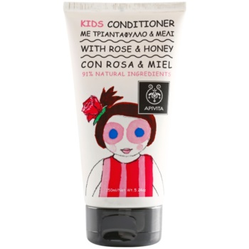 Apivita Kids Rose & Honey après-shampoing pour enfant (Dermatologically Tested) 150 ml