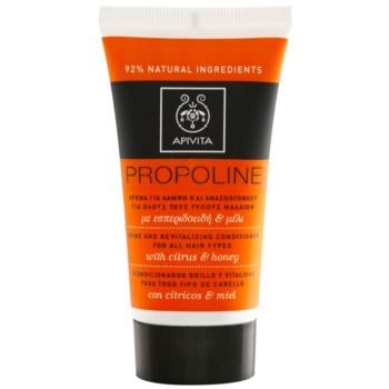 Apivita Propoline Citrus & Honey après-shampoing revitalisant pour tous types de cheveux (Dermatologically Tested) 50 ml