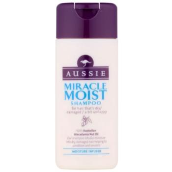 Aussie Miracle Moist shampoing pour cheveux secs et abîmés (with Australian Macadamia Nut Oil) 75 ml