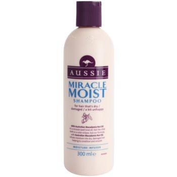 Aussie Miracle Moist shampoing pour cheveux secs et abîmés (with Australian Macadamia Nut Oil) 300 ml