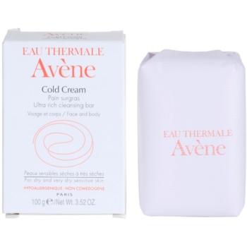 Avène Cold Cream savon pour peaux sèches à très sèches (Pain surgras Visage et corps) 100 g