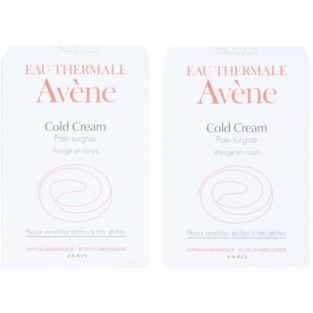 Avène Cold Cream savon pour peaux sèches à très sèches (Pain surgras Visage et corps) 2 x100 g
