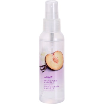 Avon Naturals Fragrance spray corporel au prune et vanille (Sugar Plum And Vanilla Scented Spritz) 100 ml