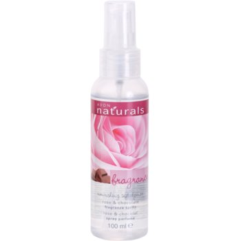 Avon Naturals Fragrance spray corporel à la rose et chocolat (Rose and Chocolate Fragrance Spritz) 100 ml