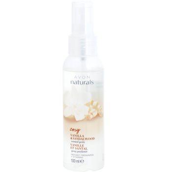 Avon Naturals Fragrance spray rafraîchissant corps à la vanille et bois de santal (Cosy) 100 ml