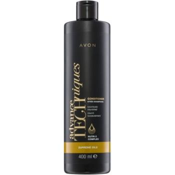 Avon Advance Techniques Supreme Oils après-shampoing nourrissant intense aux huiles luxueuses pour tous types de cheveux (Conditioner Luxuriously Nourished with Nutri 5 Complex) 400 ml