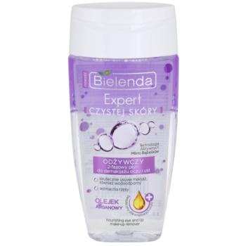 Bielenda Expert Pure Skin Nourishing démaquillant yeux et lèvres (Argan Oil) 150 ml
