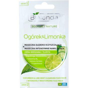 Bielenda Cucumber&Lime masque purifiant effet hydratant 2 x 5 g