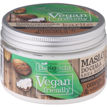 Bielenda Vegan Friendly Shea beurre corporel (with Omega 3-6 & Vitamin E) 250 ml