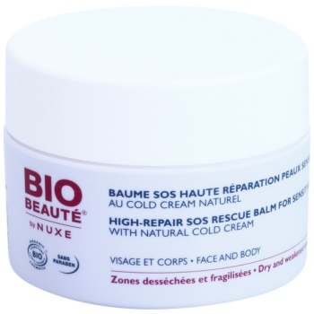 Bio Beauté by Nuxe High Nutrition baume SOS régénérant pour peaux sensibles riche en Cold Cream (Dry and Weakened Areas Face and Body) 50 ml