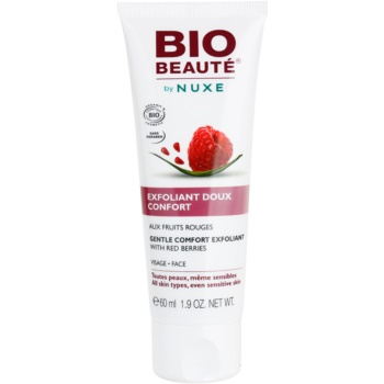 Bio Beauté by Nuxe Masks and Scrubs gommage doux visage aux fruits rouges (Gentle Comfort Exfoliant With Red Berries) 60 ml
