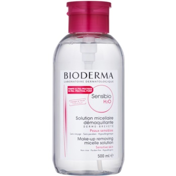 Bioderma Sensibio H2O eau micellaire pour peaux sensibles avec pompe pratique (Micelle Solution) 500 ml