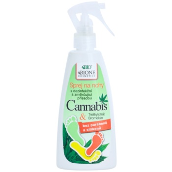 Bione Cosmetics Cannabis spray pieds (Parabens and Silicons Free) 260 ml