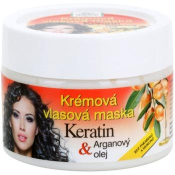 Bione Cosmetics Keratin Argan masque régénérant pour cheveux (Parabens and Silicons Free) 260 ml