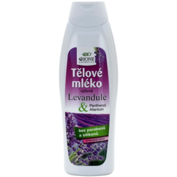 Bione Cosmetics Lavender lait corporel nourrissant (Parabens and Silicons Free) 500 ml