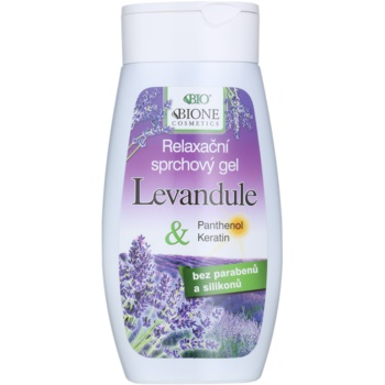 Bione Cosmetics Lavender gel douche relaxant (Parabens and Silicons Free) 260 ml