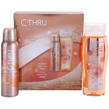 C-THRU Pure Illusion coffret cadeau III. déodorant en spray 150 ml + gel de douche 250 ml