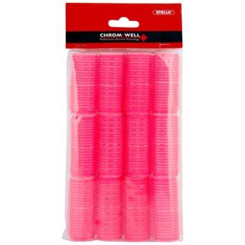 Chromwell Accessories Pink bigoudis velcro ( ø 25 x 63 mm )