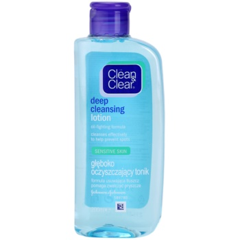Clean & Clear Deep Cleansing lotion visage nettoyante en profondeur pour peaux sensibles (Lotion for Sensitive Skin) 200 ml