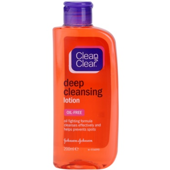 Clean & Clear Deep Cleansing lotion visage nettoyante en profondeur (Lotion for Oily Skin) 200 ml