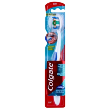 Colgate 360° Whole Mouth Clean brosse à dents soft Orange (With Tongue Cleaner)