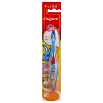 Colgate Kids 2-6 Years brosse à dents pour enfants extra soft Red & Blue (Animals)