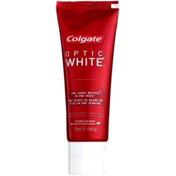 Colgate Optic White dentifrice effet blancheur saveur Sparkling Mint (One Shade Whiter in One Week) 75 ml