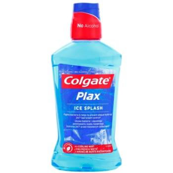 Colgate Plax Ice Splash bain de bouche antibactérien pour une haleine fraîche saveur Cooling Mint (Fights Bacteria & Helps to Prevent Plaque Buid-Up 24/7 Bad Breath Control) 500 ml